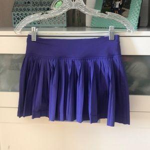 Purple pleat the street skirt lululemon